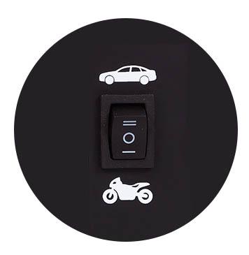 przełącznik motor/auto