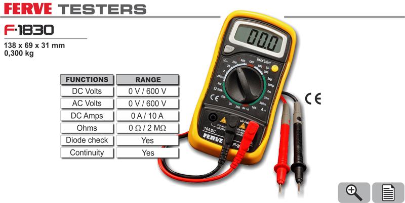 Cyfrowy multimetr Ferve 0-600V