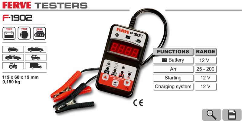Tester akumulatorów do 200Ah Ferve