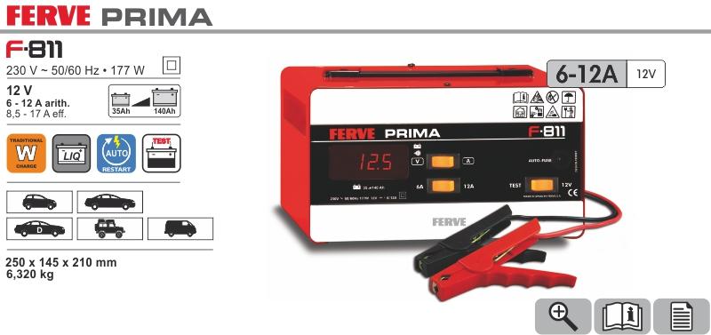 Prostownik Prima 12V 6-12A Ferve