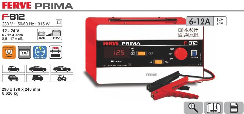 Prostownik Prima 12/24V 6-12A Ferve
