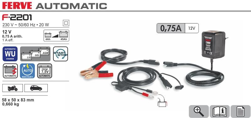 Ładowarka automatyczna 12V 0,75A Ferve