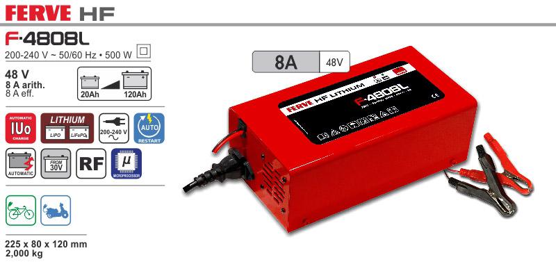 Ładowarka automatyczna HF 48V 8A Ferve Lithium LifePo4