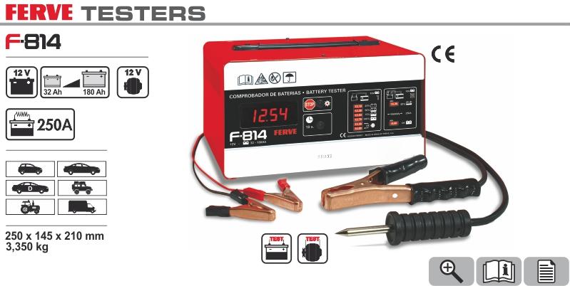 Tester obciążeniowy akumulatorów Ferve 250A