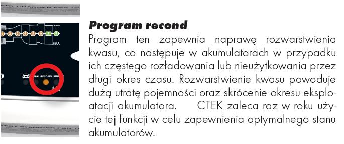 proces ładowania - program Recond