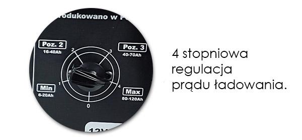 skokowa regulacja prądu ładowania.