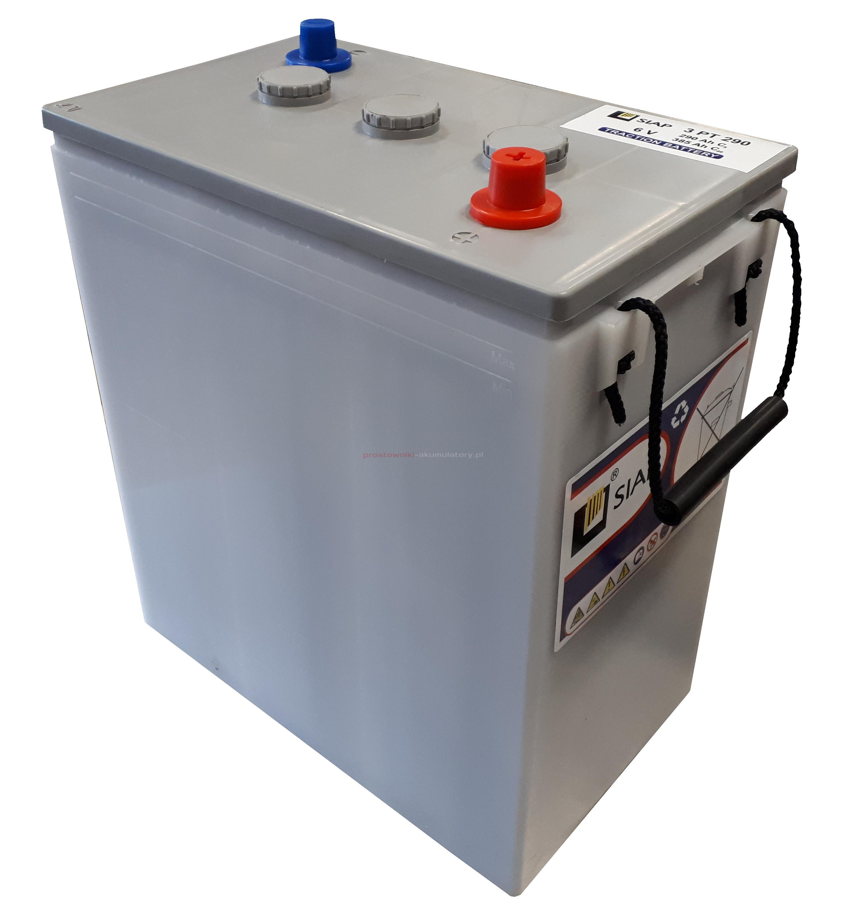 Akumulator 6V 385Ah (20H) SIAP 3PT290 pancerna płyta